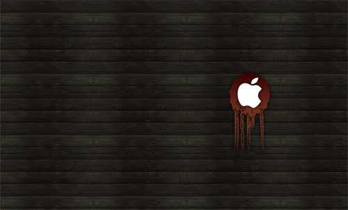 ipad wallpaper wood. Apple logo Wood iPad Wallpaper