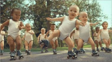 YouTube - Evian Roller Babies international version
