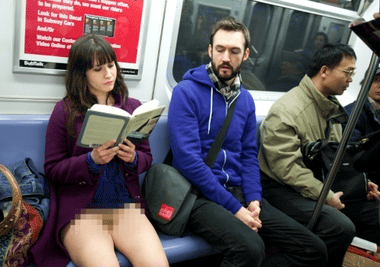 YouTube - No Underwear Subway Ride (Faked For April Fool's 2010)