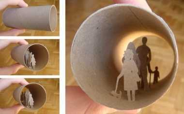 トイレットペーパーの芯で創り上げる小宇宙