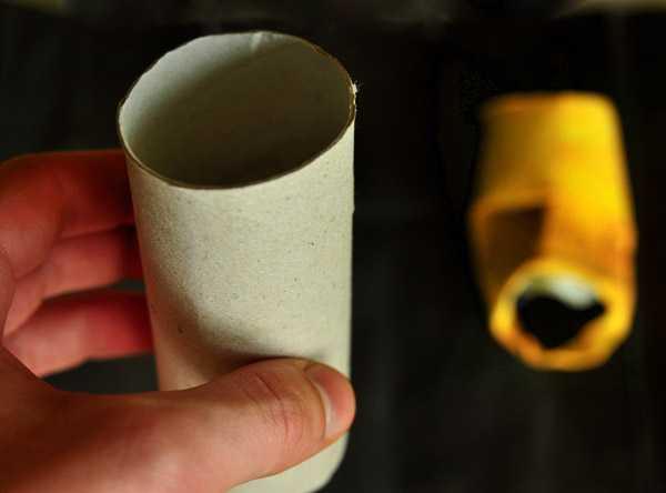 トイレットペーパーの芯で顔を作る面白ペーパークラフト