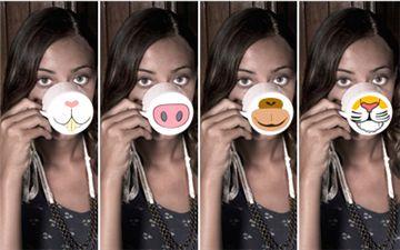 K 39 conf for Decoracion con tazas de cafe