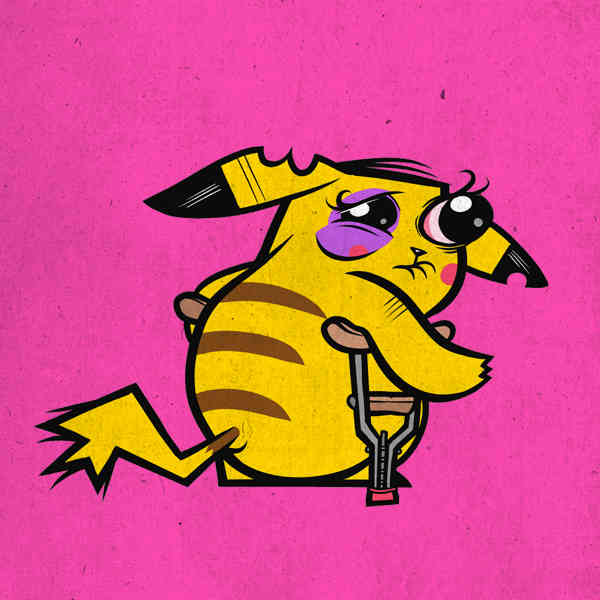Busted up pokemon