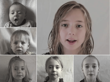 Lotte Time Lapse: Birth to 12 years in 2 min. 45. on Vimeo