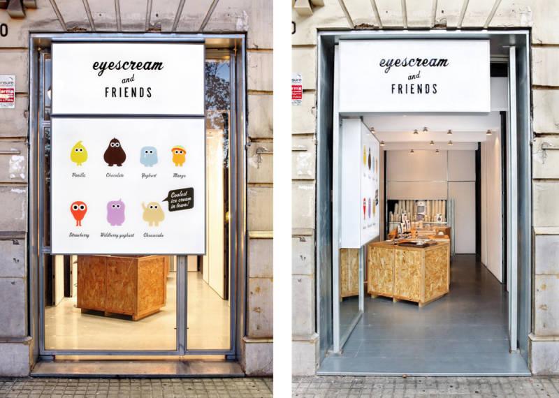 クリクリ目玉が可愛いバルセロナにあるアイスクリーム店『eyescream』