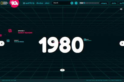 80年代に流行ったものをインタラクティブに紹介するサイト『The 80s』