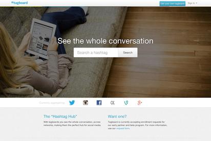 ハッシュタグに対応したソーシャルメディアの総合検索サイト『Tagboard』