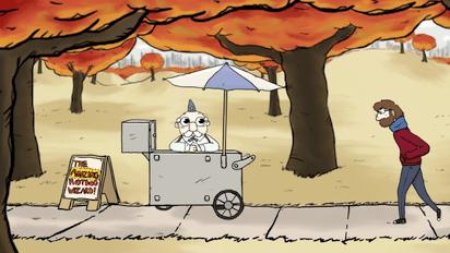 魔法使いのホットドック屋を描いたユーモラスなショートアニメ