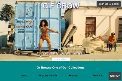 お気に入りのアニメーションGIFをフルスクリーンで楽しめる『GIF GROW』