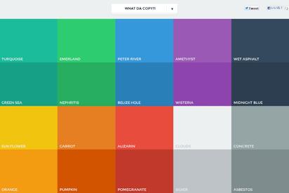 フラットデザインに似合う色を集めたカラーパレット『Flat UI Colors』