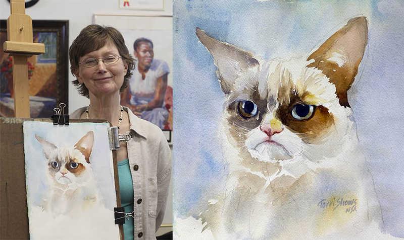 """多くの芸術家たちによる""""Grumpy Cat""""のアート作品を創るプロジェクト"""