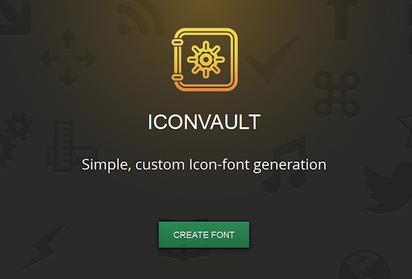 SVG画像からアイコンフォントを作成してくれるジェネレーター『Iconvault』