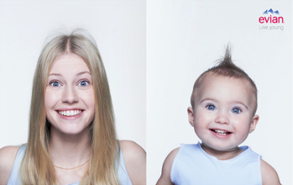 現在の自分と赤ちゃんの自分のツーショット写真が撮れるアプリ『baby&me』