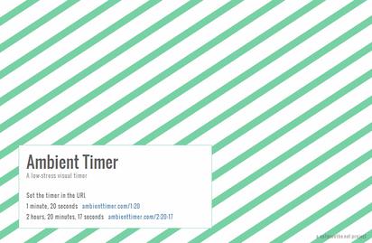 音を鳴らさず視覚的に知らせるシンプルでお洒落なタイマー『Ambient Timer』