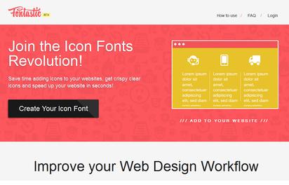 Webフォントとして利用可能なオリジナルのアイコンフォントが作成できる『Fontastic』