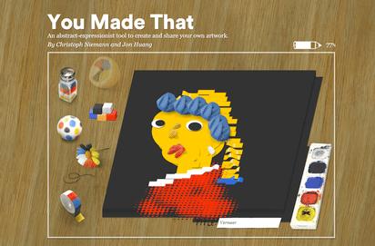 ユニークなブラシを使ってモダンアートが作成できるサイト『You Made That』 - K'conf