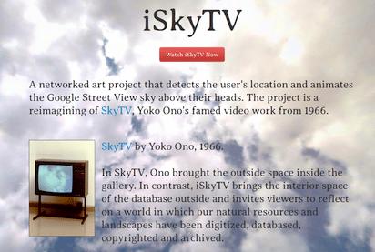窓のない部屋からでも空を見上げる気分にさせてくれる『iSkyTV』