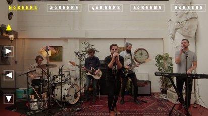 ビールの量でバンドの演奏状態が変っていく面白いプロモーションビデオ