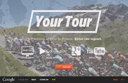 スクロールしながらツール・ド・フランスを疑似体験できる『Your Tour』
