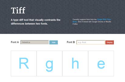 2つのフォントをビジュアル的に比べるフォントのためのDiffツール『Tiff』