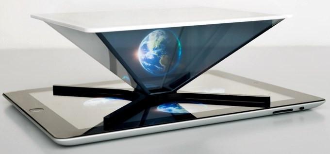 スマホやタブレット向けの簡易な立体ホログラム生成パネル『HOLHO』