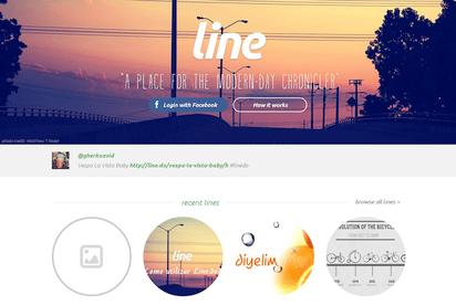 特定のテーマに沿ったお洒落なタイムラインが作成できる『Line.do』