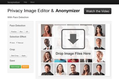 写真の顔部分を自動検出してぼかしを入れてくれるツール『Facepixelizer』