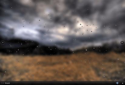 リアルなビジュアライザーションで雨音サウンドを流すサイト『RainRain』