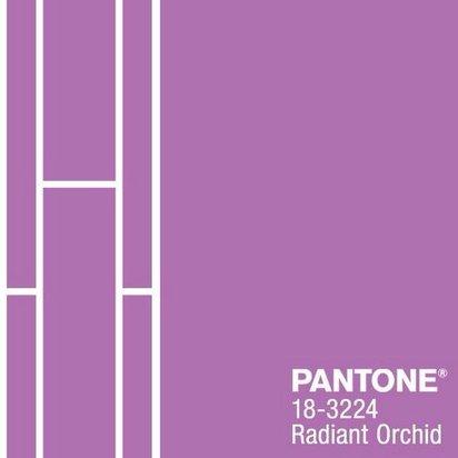 色見本のPANTONEより2014年の流行色は『Radiant Orchid』に決定