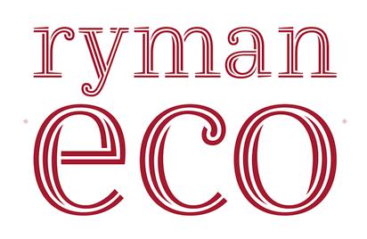 インク使用量を抑えつつ可読性を重視したフリーフォント『Ryman Eco』