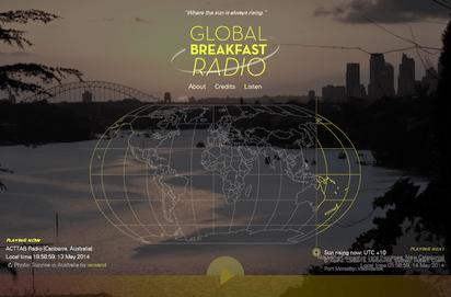 世界の何処かの朝の雰囲気を常に流すネットラジオ『Global Breakfast Radio』