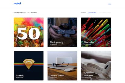 Webデザイナーのためのリソース・キュレーションサイト『oozled』