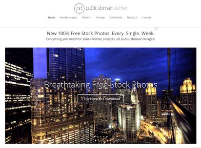高品質なパブリックドメインの写真を公開するサイト『Public Domain Archive』