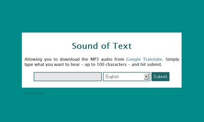 テキストを音声化してMP3でダウンロードできるサイト『Sound of Text』