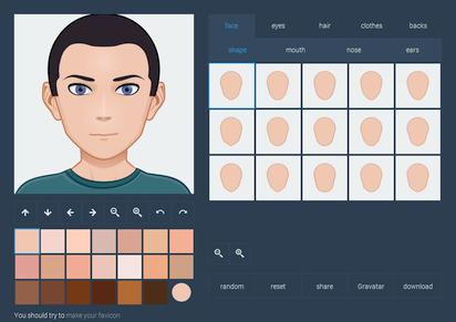 アニメテイストな似顔絵アバターをSVG画像で作成できる『Face.co』