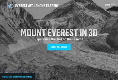 エベレストのバーチャル登山が体験できるサイト『Mount Everest in 3D』