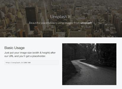 高品質なフリーフォトをリソースにしたダミー画像サービス『Unsplash It』