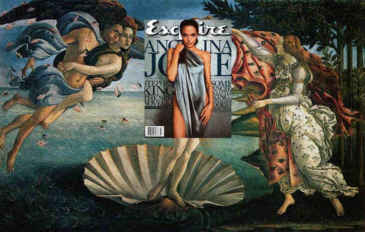 雑誌の表紙とクラシック絵画をマッシュアップしたアート作品