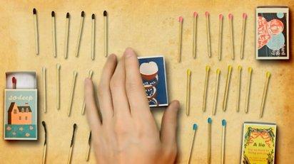 レトロなマッチ箱をモチーフにしたステキなミュージックビデオ