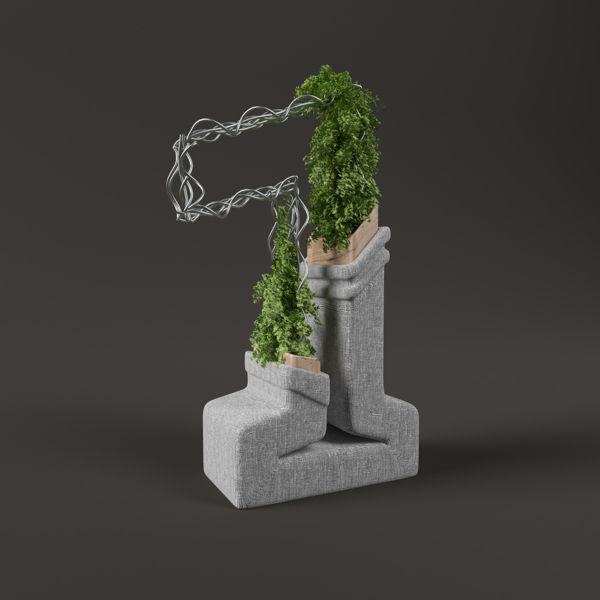 非現実な3Dオブジェと化したクリエイティブなタイポグラフィーアート