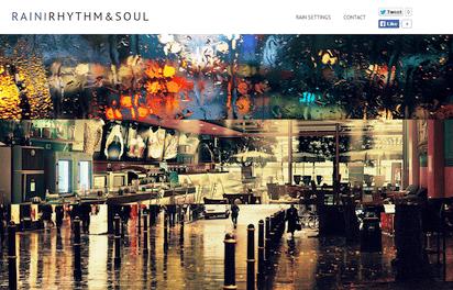 雨音を背景に3つのジャンルの音楽を聴かせるサイト『Rain, Rhythm and Soul』