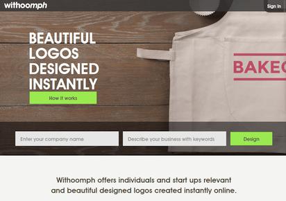わずか数分でデザインされたロゴが作成できる『Withoomph』