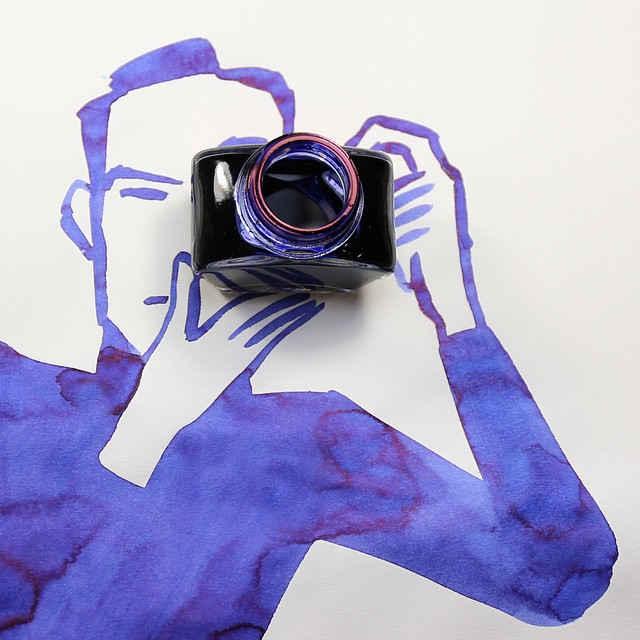 身の回りのモノを使って完成されるクリエイティブな水彩イラストシリーズ