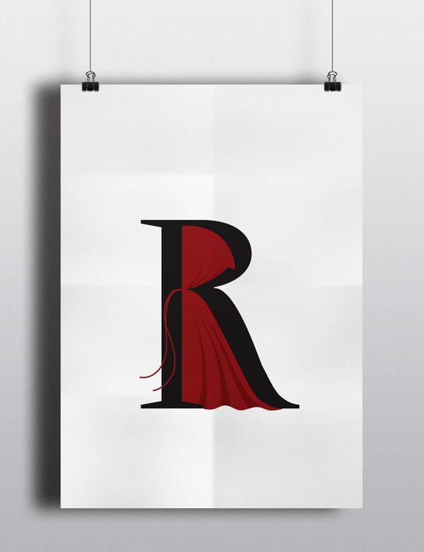 童話をモチーフにタイポグラフィで表現された秀逸なポスター