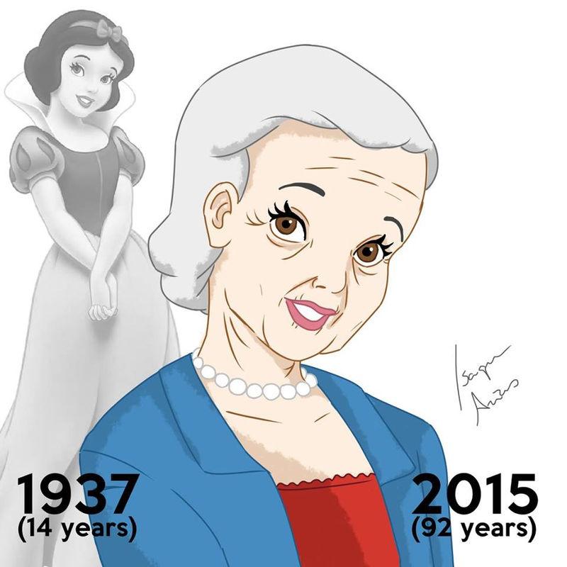 歴代ディズニー・プリンセスたちの現在の姿を描いたイラストシリーズ
